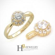 (4월탄생석)14K 다이아몬드 세트(펜던트+반지)