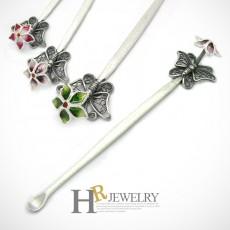 실버 나비와 꽃 귀이개(3종중택일)
