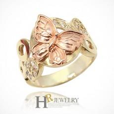 14K 아프로디테 나비 반지